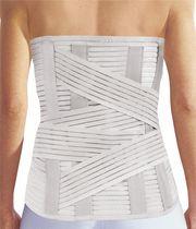 Thoraco-lumbo-sacral support belt / adult / semi-rigid