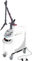 Pigmented lesion treatment laser / Nd:YAG / trolley-mounted