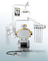 Dental treatment unit with motor-driven chair / with delivery system
