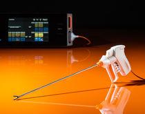 Electrosurgical cutting forceps / laparoscopic / vessel-sealing / bipolar
