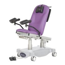 Gynecological examination table / electric / height-adjustable / 2-section