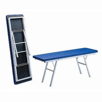 Manual massage table / portable / height-adjustable / 1-section