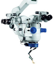 Ophthalmic surgery microscope / on casters
