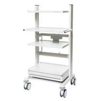 Transport cart / for ceiling pendants / for medical devices / height-adjustable