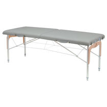 Manual massage table / portable / height-adjustable / 2-section