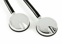 Single-head stethoscope / chrome-plated brass