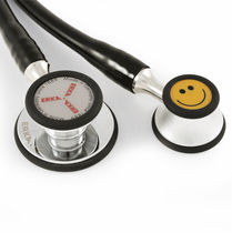 Dual-head stethoscope / chrome-plated brass