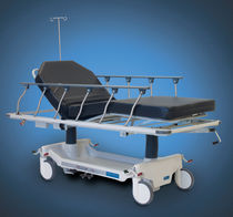 Transport stretcher trolley / hydro-pneumatic / height-adjustable / 2 sections