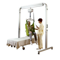 Electric patient lift / on casters / free-standing