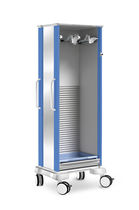 Endoscope trolley / with tambour door / single-module