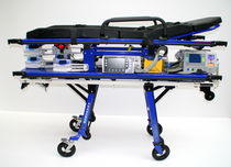 Ambulance stretcher trolley / pneumatic / height-adjustable / removable platform