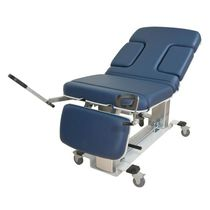 Ultrasound imaging examination table / electric / height-adjustable / on casters