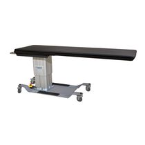 Mobile angiography table / height-adjustable