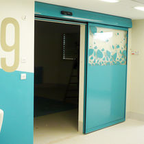 Hospital door / laboratory / sliding / roll-up