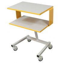 Transport trolley / for instruments / with tray / 1-tray