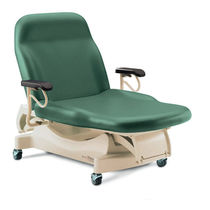 Electric examination table / height-adjustable / 2-section / bariatric