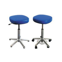 Medical office stool / height-adjustable / pneumatic / rotating