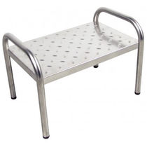 1-step step stool / stainless steel / medical