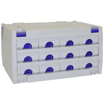 Container with drawers