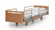 Homecare bed / electric / height-adjustable / on casters