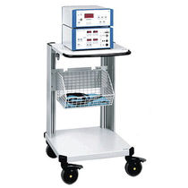 Transport cart / for electrosurgical units / with basket