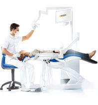 Dental unit with delivery system / with monitor / with hygiene system