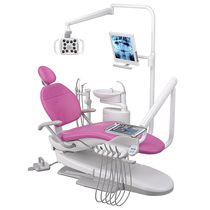Dental unit with delivery system / with light / with monitor