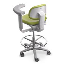 Dental stool / height-adjustable / with adjustable backrest