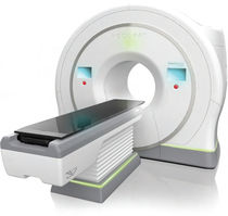 3D conformational radiation therapy linear particle accelerator / with integrated CT scanner / with robotized positioning table