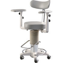 Doctor's office stool / height-adjustable / hydraulic / rotating