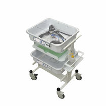 Transport trolley / for endoscopes / with tray / 4-tray