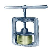 Manual dental press