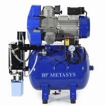 Dental compressor / for milling machines / with air dryer / membrane