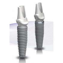 Tapered dental implant / titanium / conical / internal hexagon