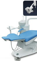 Dental treatment unit with motor-driven chair / with delivery system / with light