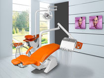 Dental treatment unit with light / with delivery system