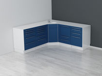 Storage cabinet / for dental instruments / with sink / stainless steel