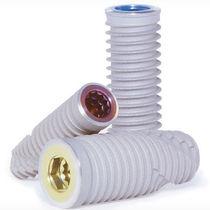 Tapered dental implant / cylindrical / titanium / internal