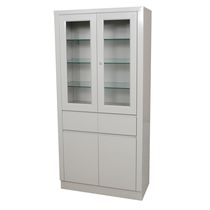 Surgical instrument display cabinet / hospital / with shelf / 2-door