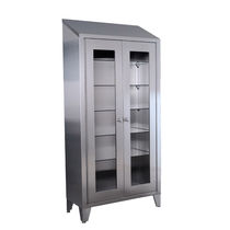 Surgical instrument display cabinet / hospital / 2-door / stainless steel