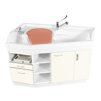 Changing station with bath / for nurseries