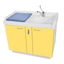 Changing station with bath