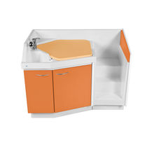 Nursery changing station / with fixed stairs / with bath / with hand basin