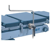 Lateral support / operating table / universal / stainless steel