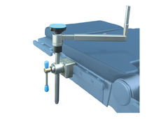 Lateral support / operating table / stainless steel / height-adjustable