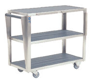 Transport trolley / storage / operating table accessory / 3-tray