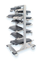 Storage trolley / operating table accessory / with tray