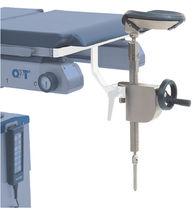Headrest / operating table / height-adjustable