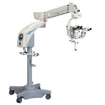 Operating microscope surgical microscopy / ophthalmic surgery / on casters