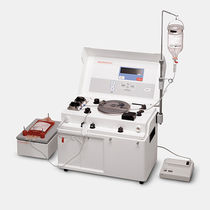 Hematology sample preparation system / for blood cells / cell washing / bench-top